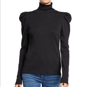 Veronica Beard | NWT black puff sleeved turtleneck